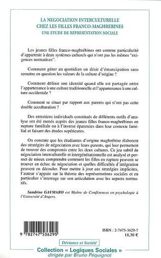 4eme LA NÉGOCIATION INTERCULTURELLE CHEZ LES FILLES FRANCO-MAGHREBINES