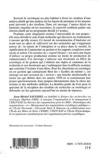 4eme ITINERAIRE D'UN SOCIOLOGUE AU TRAVAIL