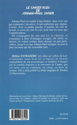 4eme Le cahier bleu de Johann-Paul Unger