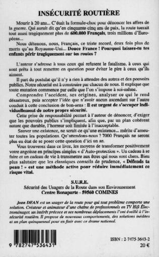 4eme INSECURITE ROUTIERE - DEFENDS TA PEAU !