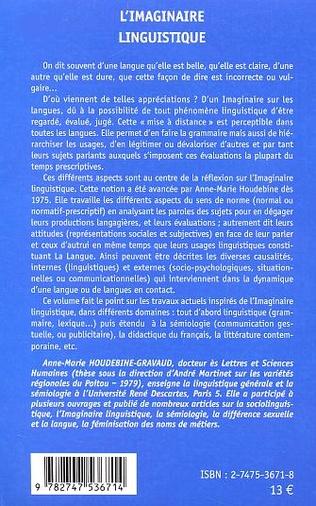 4eme L'Imaginaire Linguistique