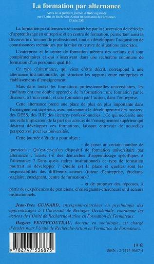 4eme LA FORMATION PAR ALTERNANCE