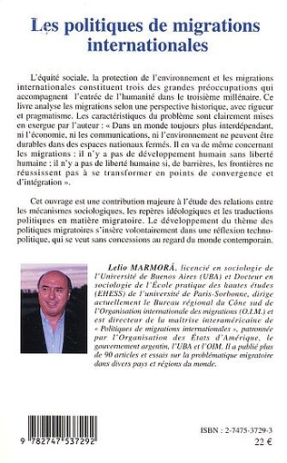 4eme LES POLITIQUES DE MIGRATIONS INTERNATIONALES