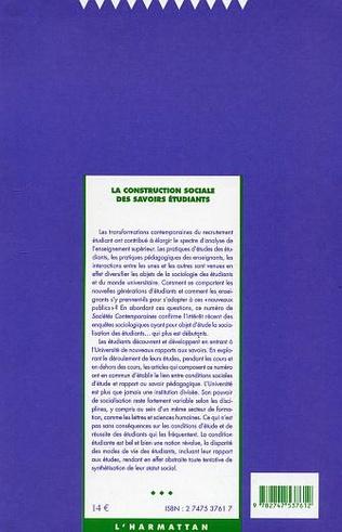 4eme La construction sociale des savoirs étudiants