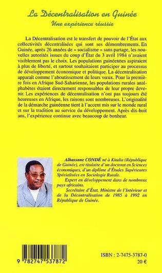 4eme LA DECENTRALISATION EN GUINEE