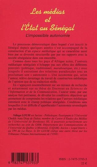 4eme MEDIAS ET L'ETAT AU SENEGAL