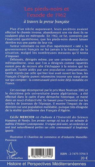 4eme LES PIEDS-NOIRS ET L'EXODE DE 1962 A TRAVERS LA PRESSE FRANCAISE