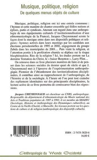 4eme MUSIQUE, POLITIQUE, RELIGION