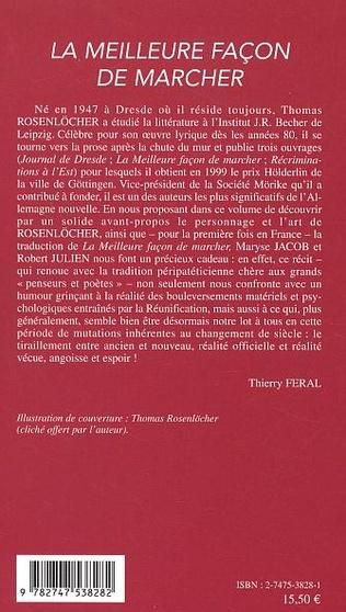 4eme LA MEILLEURE FACON DE MARCHER