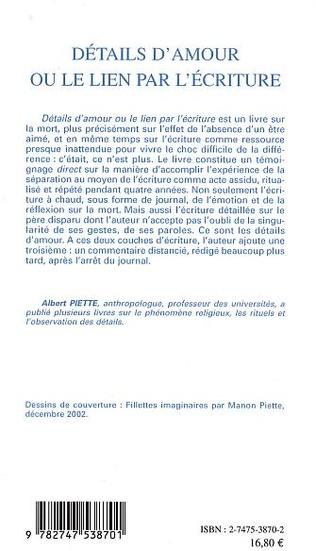 4eme DETAILS D'AMOUR OU LE LIEN PAR L'ECRITURE