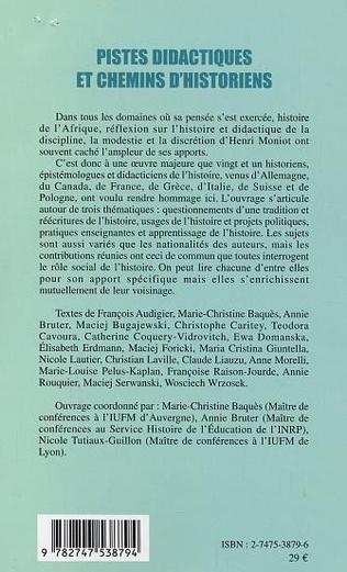 4eme PISTES DIDACTIQUES ET CHEMINS D'HISTORIENS