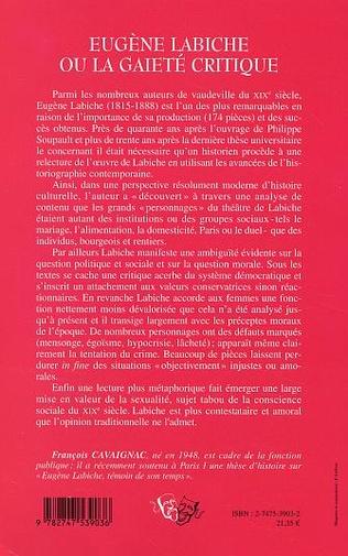 4eme Eugène Labiche ou la gaieté critique