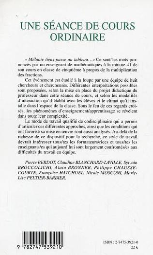 4eme SEANCE DE COURS ORDINAIRE (UNE)