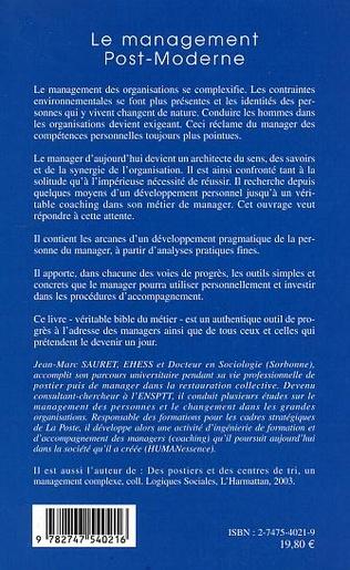 4eme Le management Post-Moderne