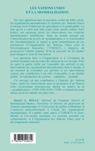 4eme Les Nations Unies et la mondialisation