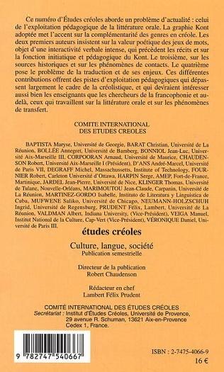 4eme Kont créole : à l'interface de l'écrit et de l'oral