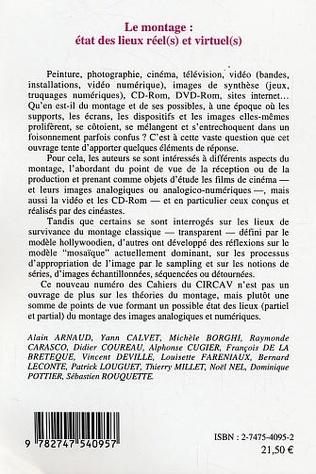 4eme Le montage : état des lieux réel(s) et virtuel(s)