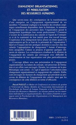 4eme Changement organisationnel et mobilisation des ressources humaines