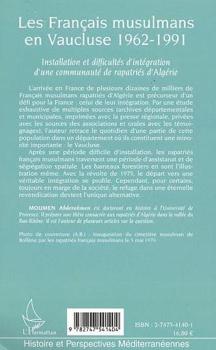4eme Les Français musulmans en Vaucluse 1962-1991