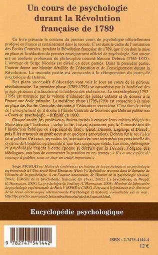 4eme Cours de psychologie durant la Révolution française de 1789