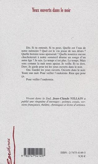 4eme YEUX OUVERTS DANS LE NOIR
