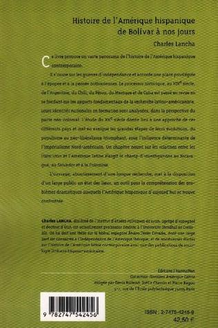 4eme Histoire de l'Amérique hispanique de Bolivar à nos jours