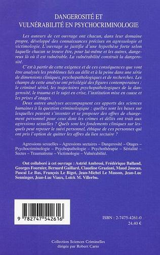 4eme Dangerosité et vulnérabilité en psychocriminologie