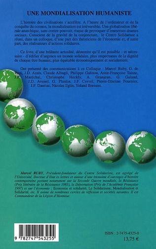 4eme Une mondialisation humaniste