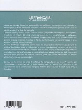 4eme Le français langue du monde