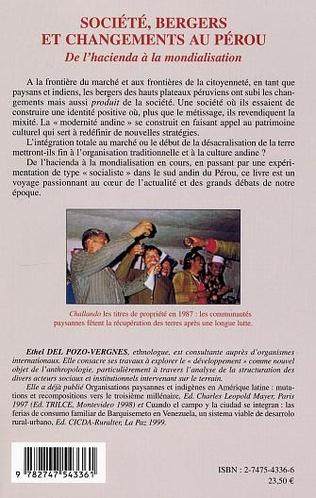 4eme Société, bergers et changements au Pérou