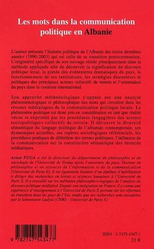 4eme Les mots dans la communication politique en Albanie
