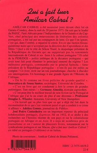 4eme Qui a fait tuer Amilcar Cabral ?