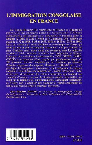 4eme L'immigration congolaise en France