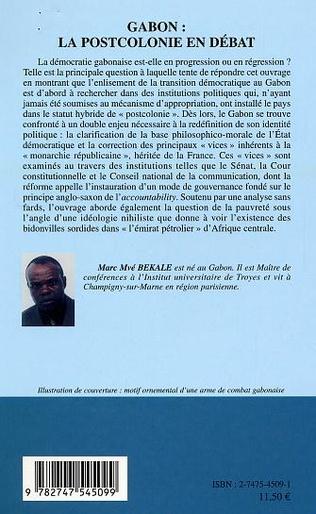 4eme Gabon  la postcolonie en débat