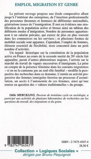 4eme Emploi migration et genre