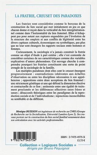 4eme La fratrie, creuset de paradoxes