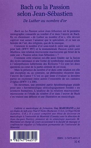 4eme Bach ou la passion selon Jean-Sébastien