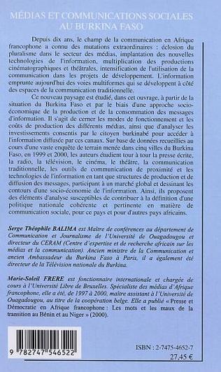4eme Médias et communications sociales au Burkina Faso