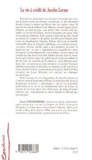4eme La vie à crédit de Jacobo Lerner