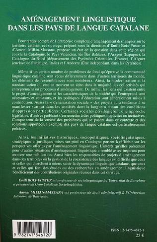 4eme Aménagement linguistique dans les pays de langue catalane