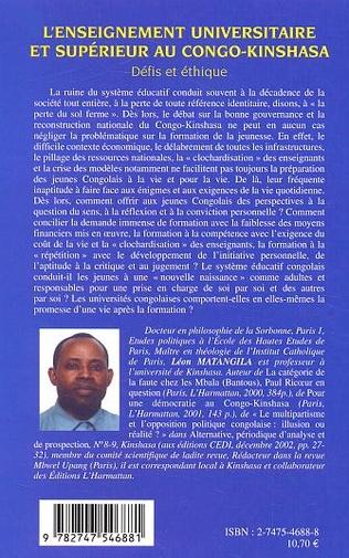 4eme L'enseignement universitaire et supérieur au Congo-Kinshasa