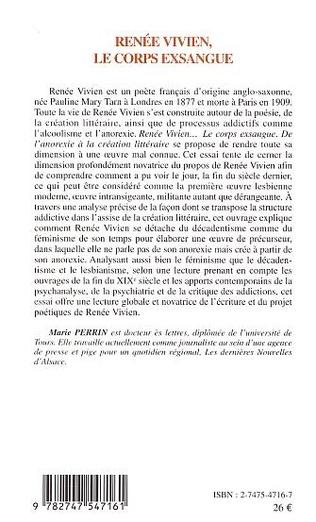 4eme Renée Vivien, le corps exsangue