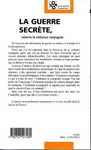 4eme La Guerre secrète, vaincre la violence conjugale