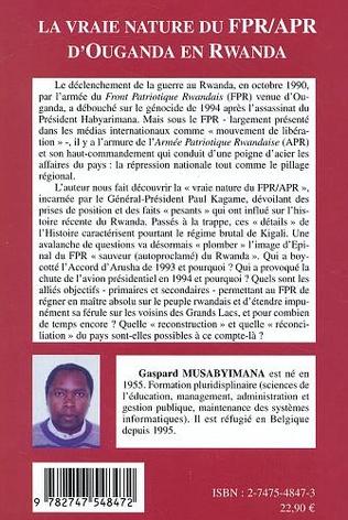 4eme Vraie nature du FPR APR d'Ouganda en Rwanda