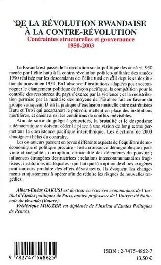 4eme De la révolution rwandaise à la contre-révolution