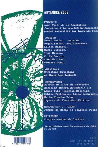 4eme Prostitution : marchés, organisation, mobilisations