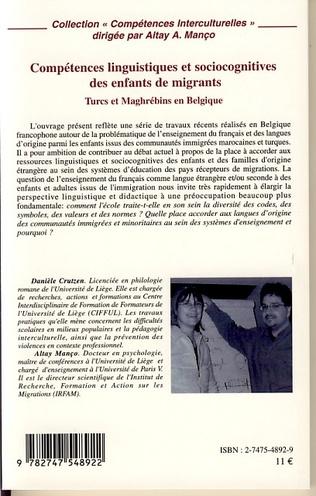 4eme Compétences linguistiques et sociocognitives des enfants de migrants