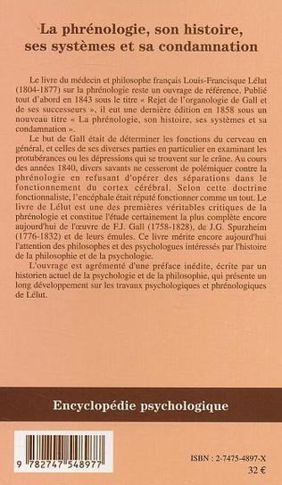 4eme La phrénologie, son histoire, ses systèmes et sa condamnation