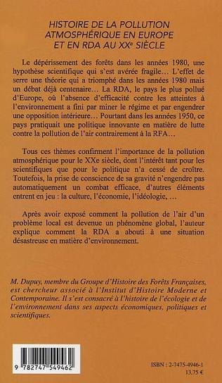 4eme Histoire de la pollution atmosphérique en Europe et en RDA au XXe siècle