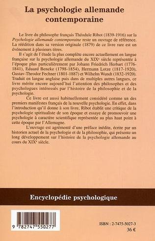 4eme Psychologie allemande contemporaine